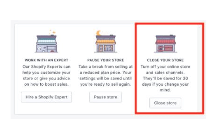 Close Your Shopify Account