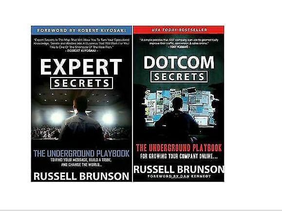Expert Secrets and Dotcom Secrets by Russell Brunson