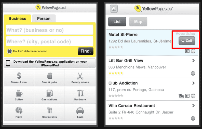 Mobile front view