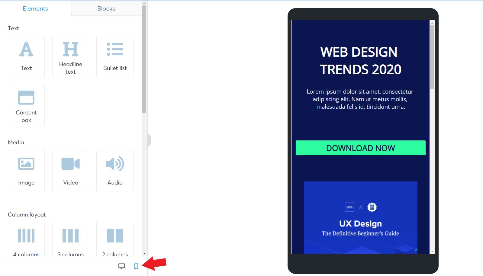 systeme.io mobile optimization