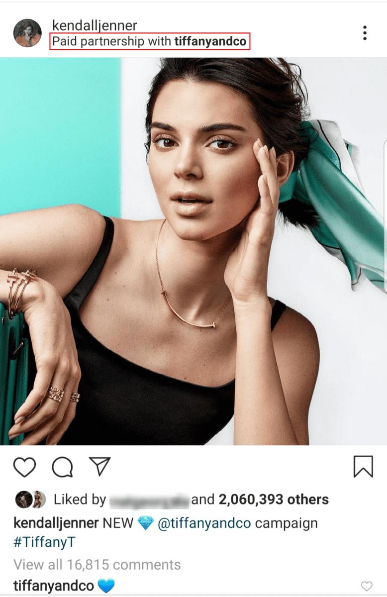kendall jenner instagram's account