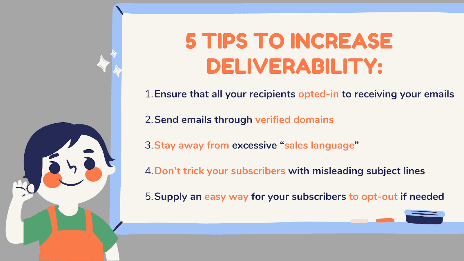 5 tips to increase deliverability