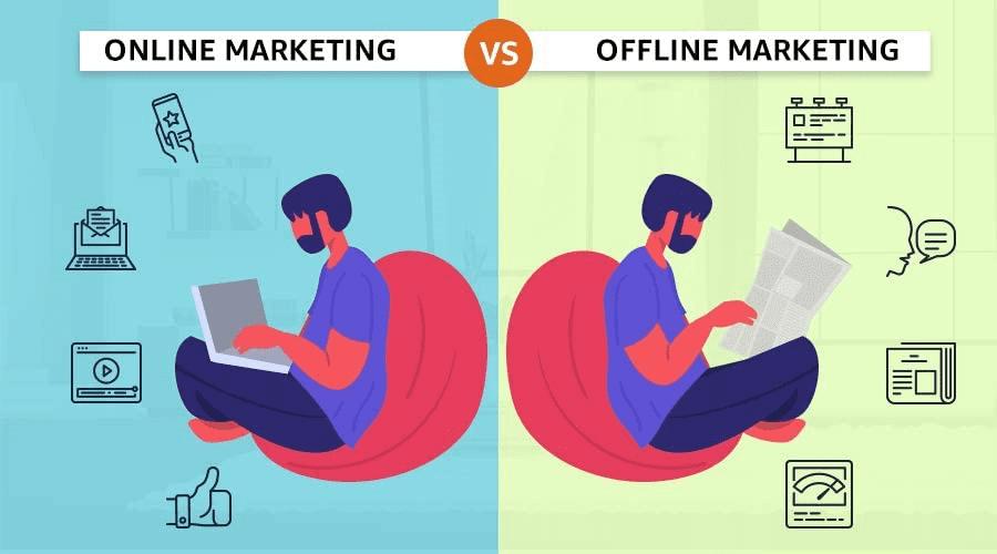 Online vs offline digital marketing
