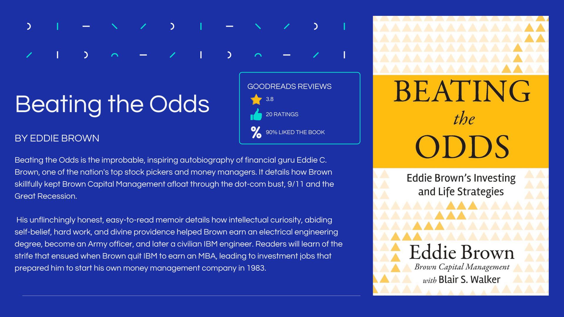 Beating the Odds by Eddie Brown