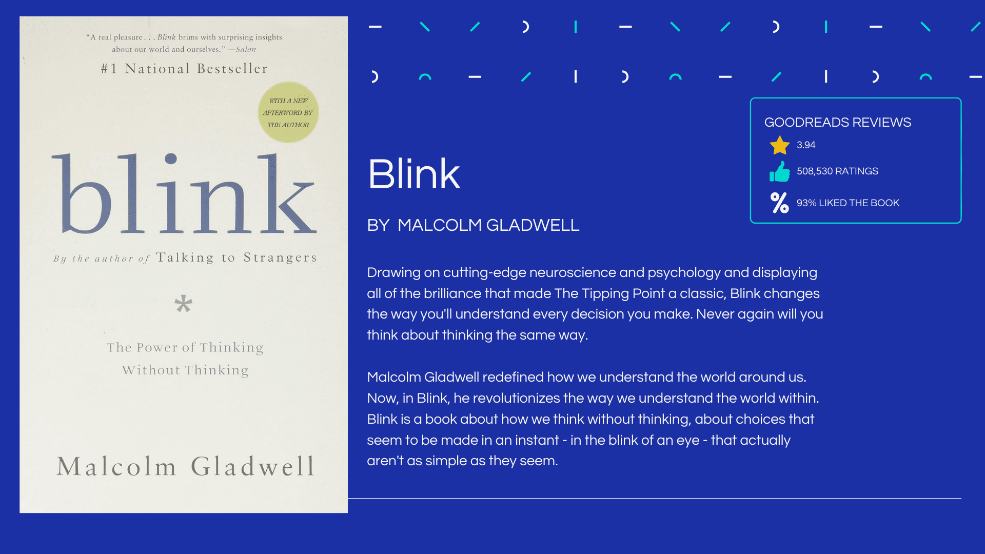 Blink by Malcolm Gladwell