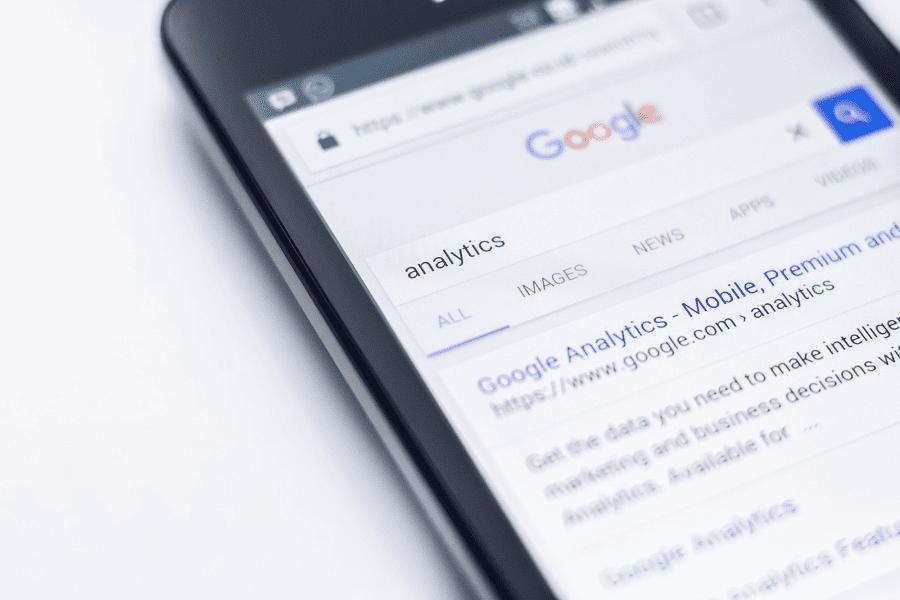 Page de résultats de recherche Google sur mobile