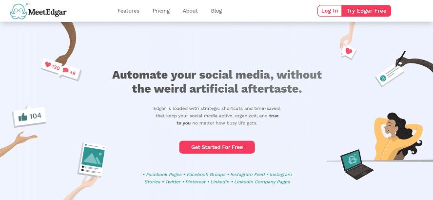 MeetEdgar Home page