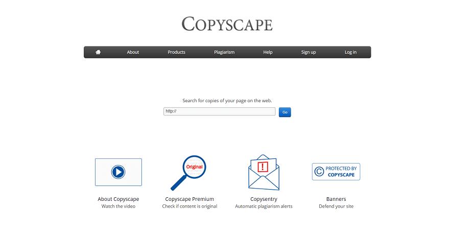 CopyScape Home page