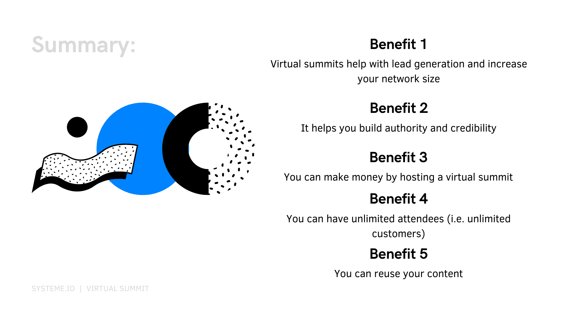five benefits of using a virtual summit