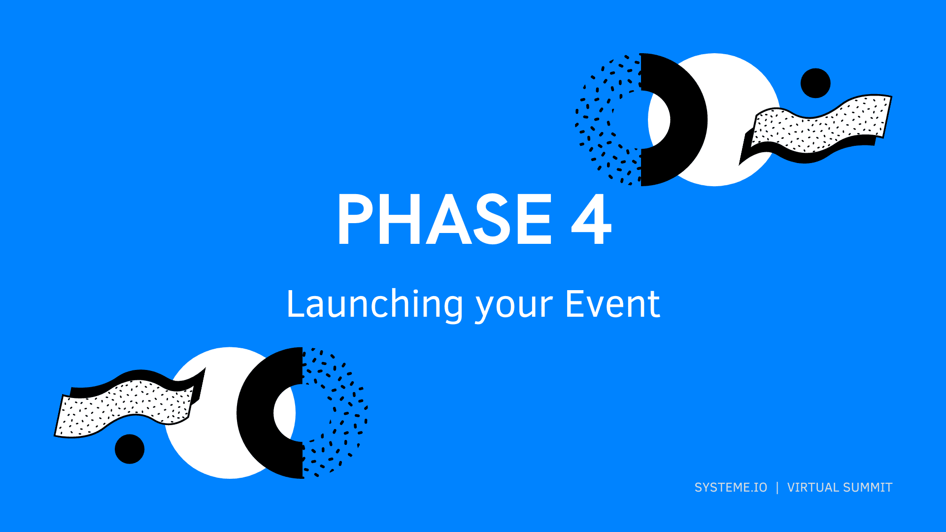 Phase 4 — Launching your Event