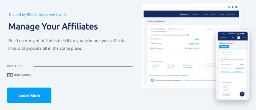 Manage your affiliates
