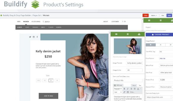 Buildify's Drag-and-Drop Editor