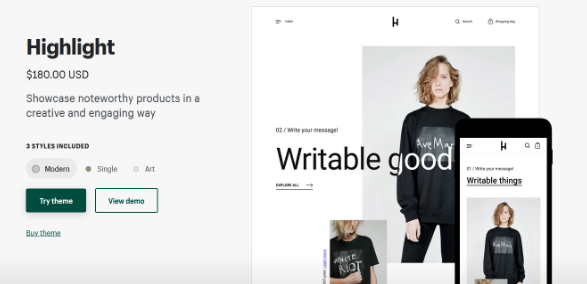 Shopify's Premium Themes