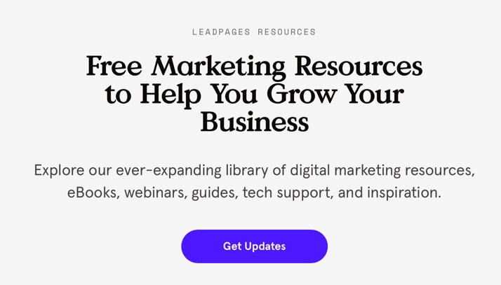 Leadpages Resources