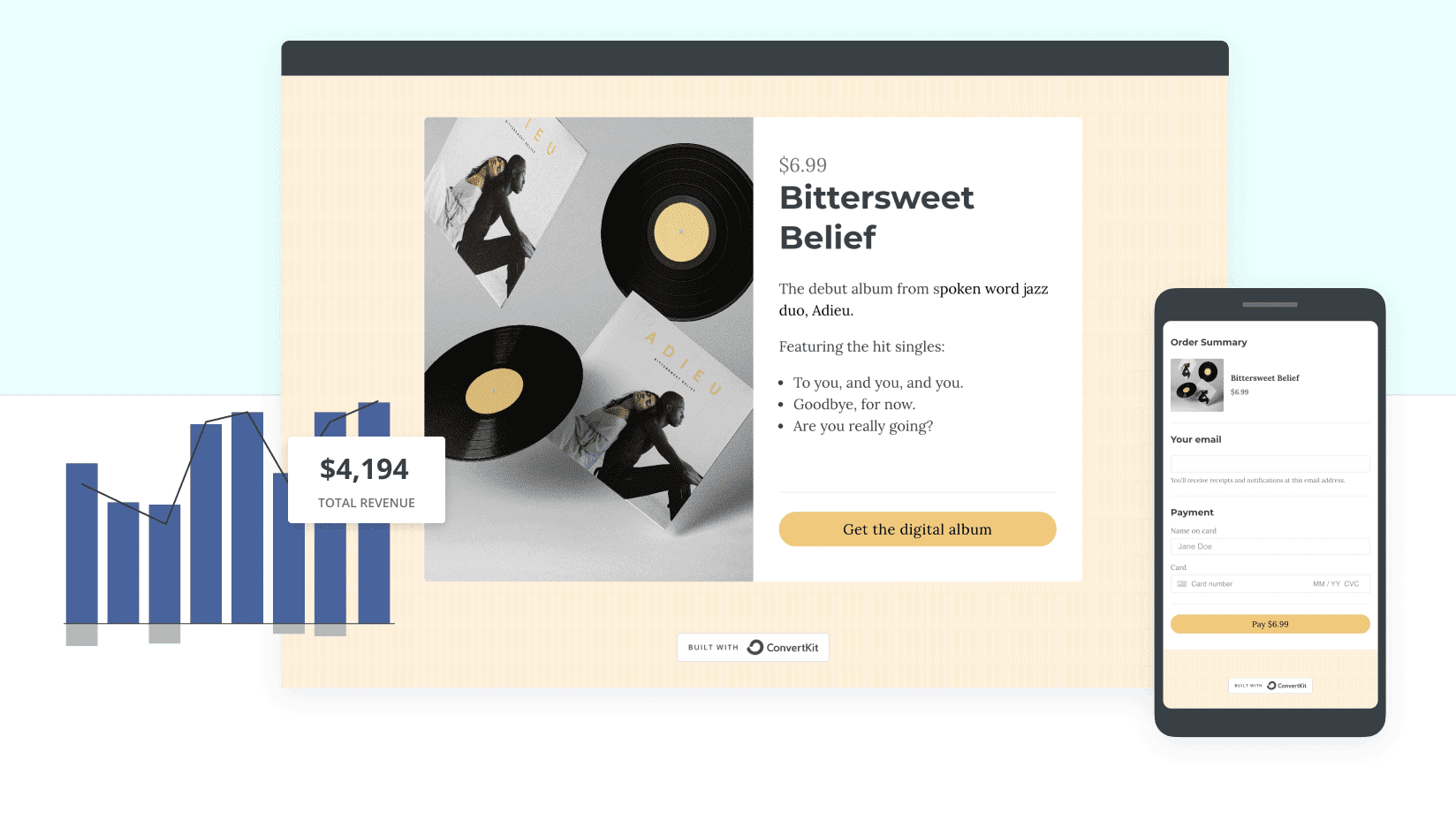 ConvertKit's e-commerce tools