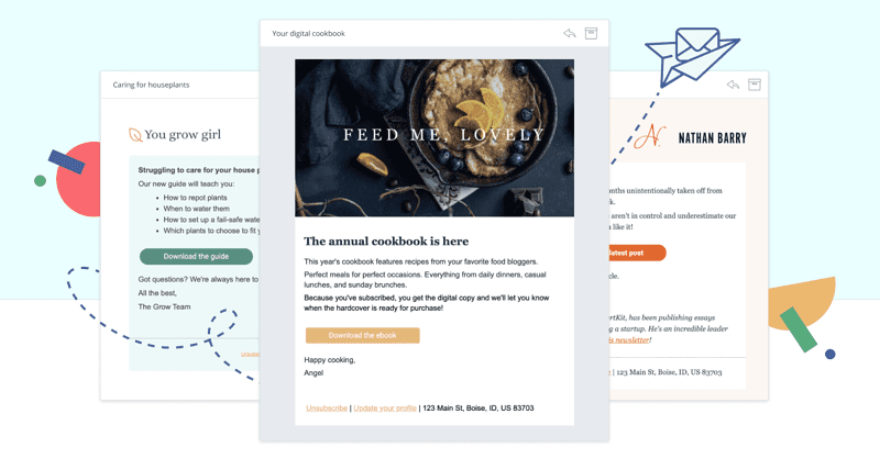 ConvertKit's email templates