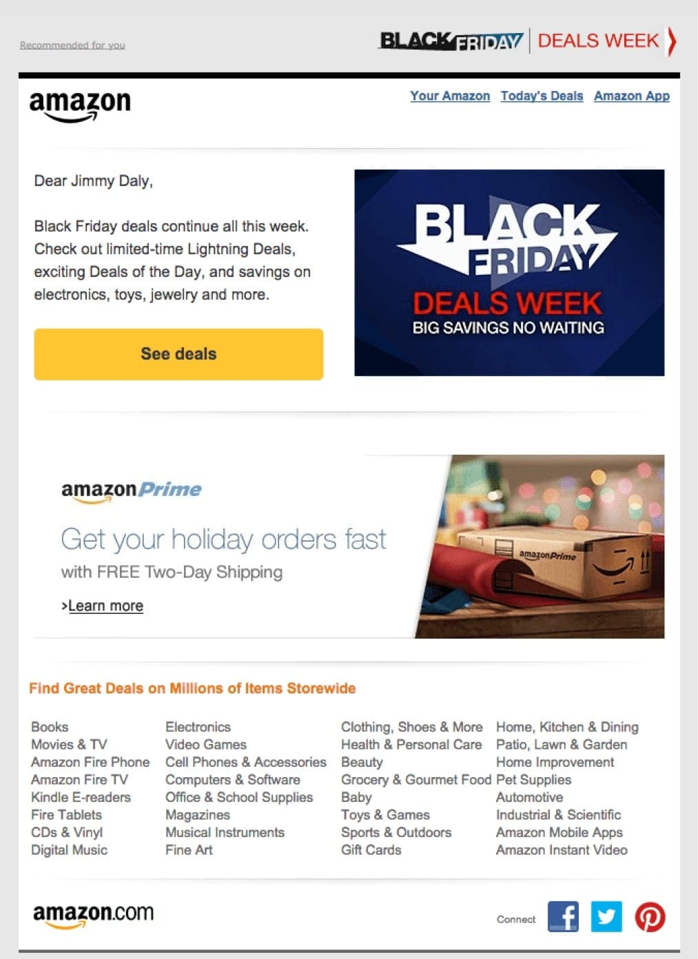 Amazon's Email Drip Campaign