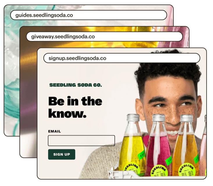 Mailchimp's Landing Page Templates