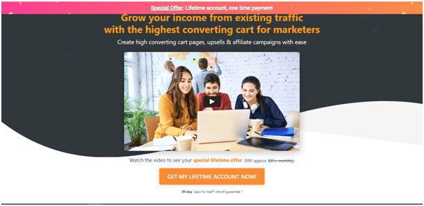 ThriveCart homepage