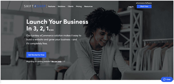 Shift4Shop homepage