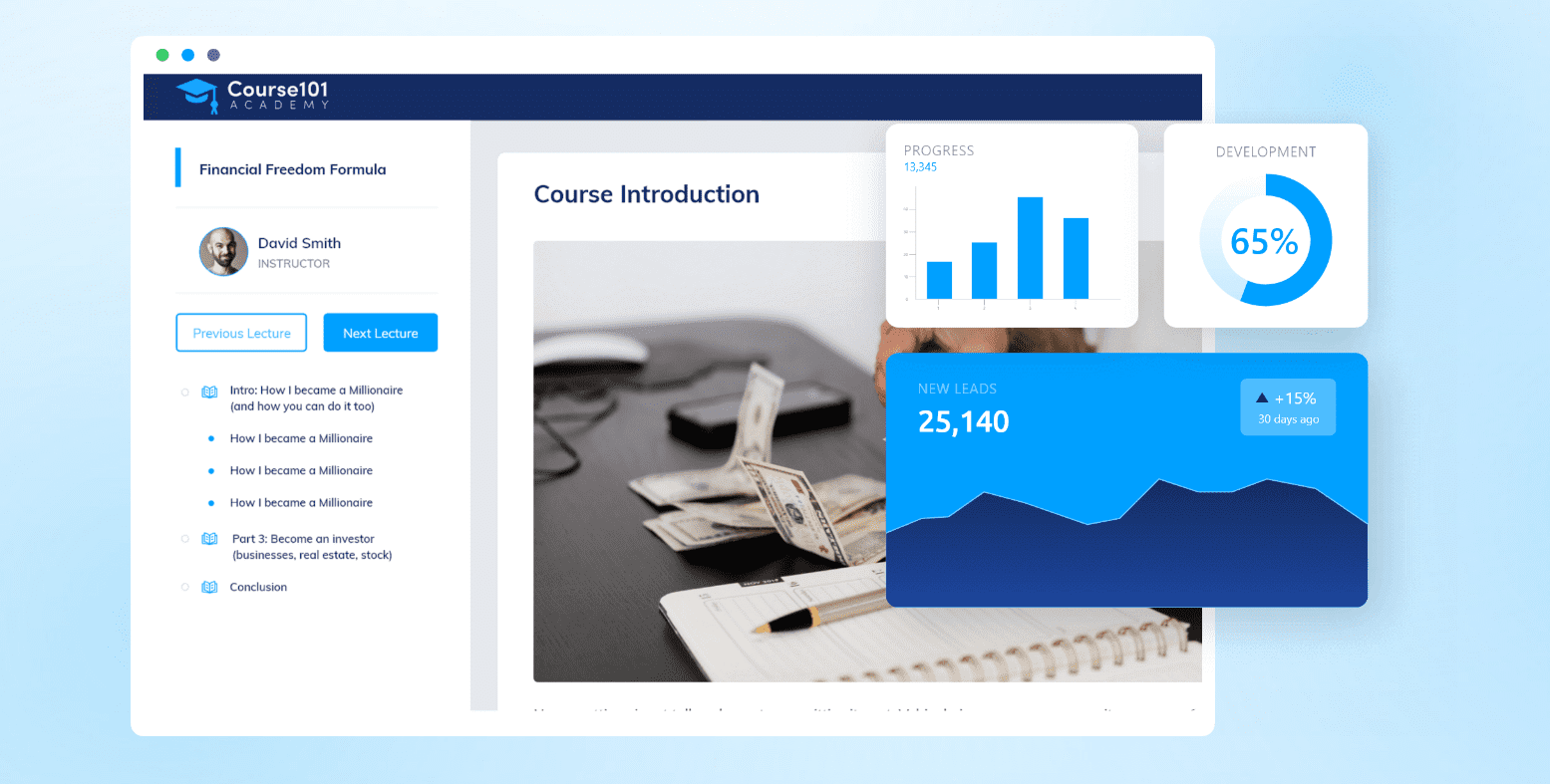 Creating a course with systeme.io