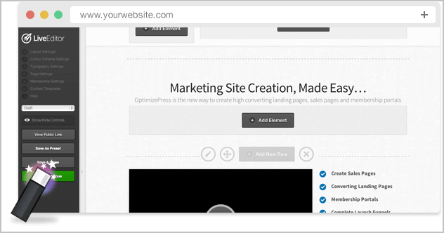 Create Landing Pages