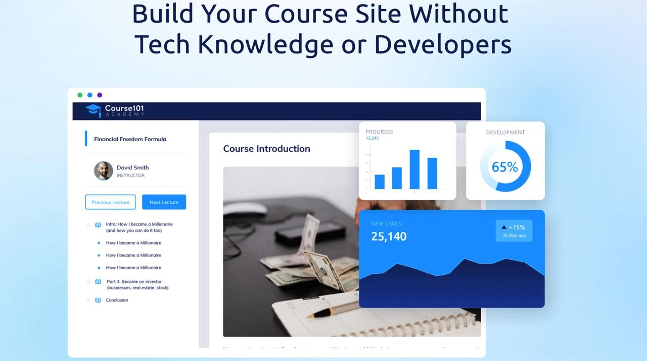 Systeme.io course example