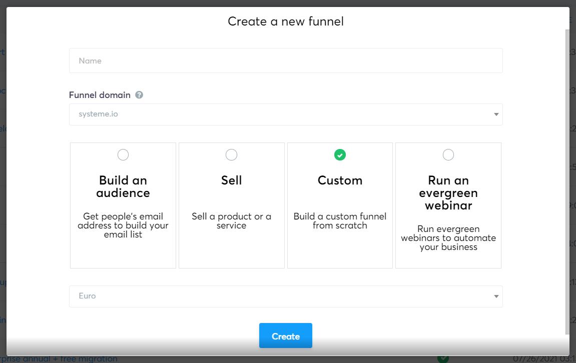 Systeme.io's sales funnel builder