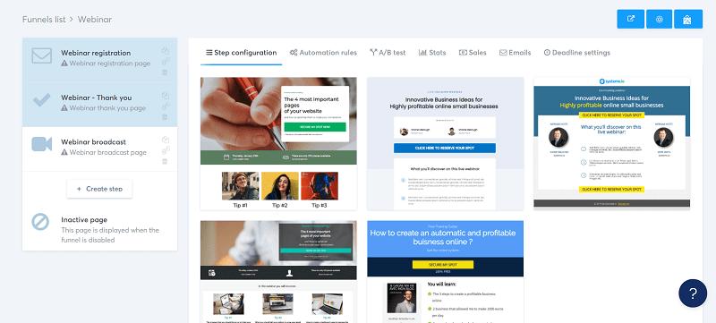 Hosting a webinar with systeme.io