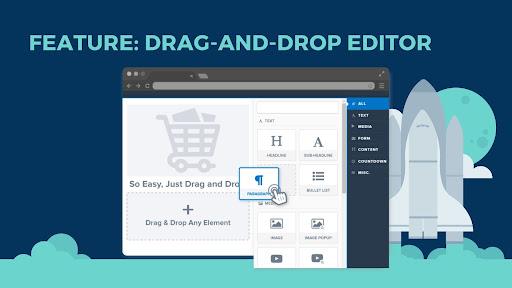 Drag and drop editor