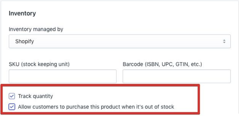 Shopify's Inventory Tracking Feature