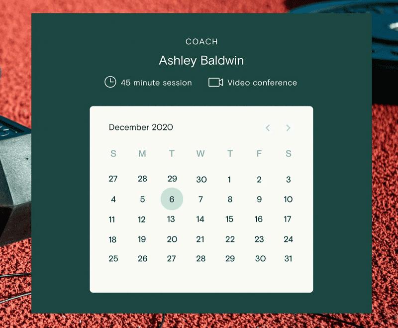 Teachable's coaching calendar planner