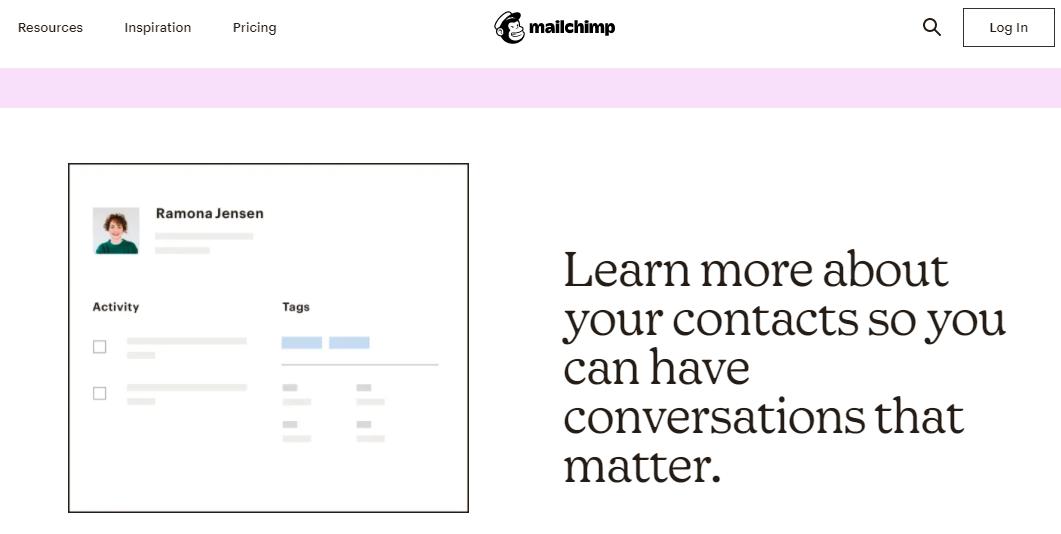 Mailchimp contact management