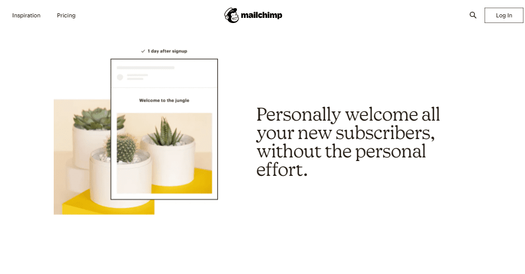 Mailchimp's email automation page