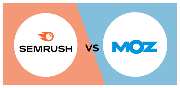 SEMRush and Moz's logos