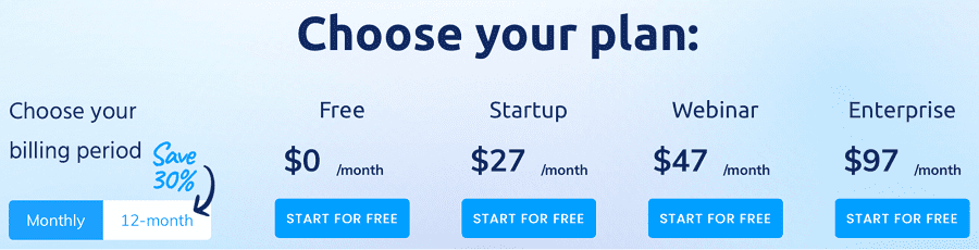 systeme.io's pricing options