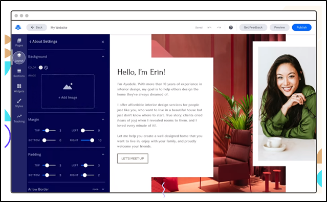 A preview of Leadpages' landing page builder