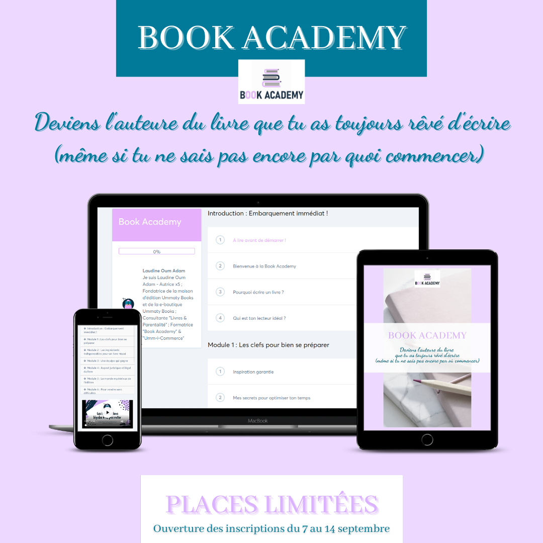 Book Academy : Deviens auteure (même si tu pars de zéro)