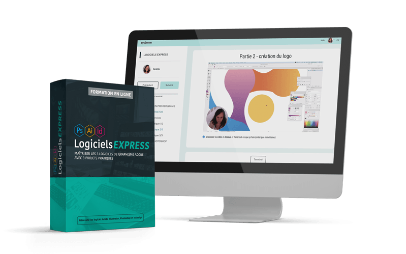 LOGICIELS EXPRESS - Maîtriser les 3 logiciels de graphisme Adobe avec 3 projets pratiques