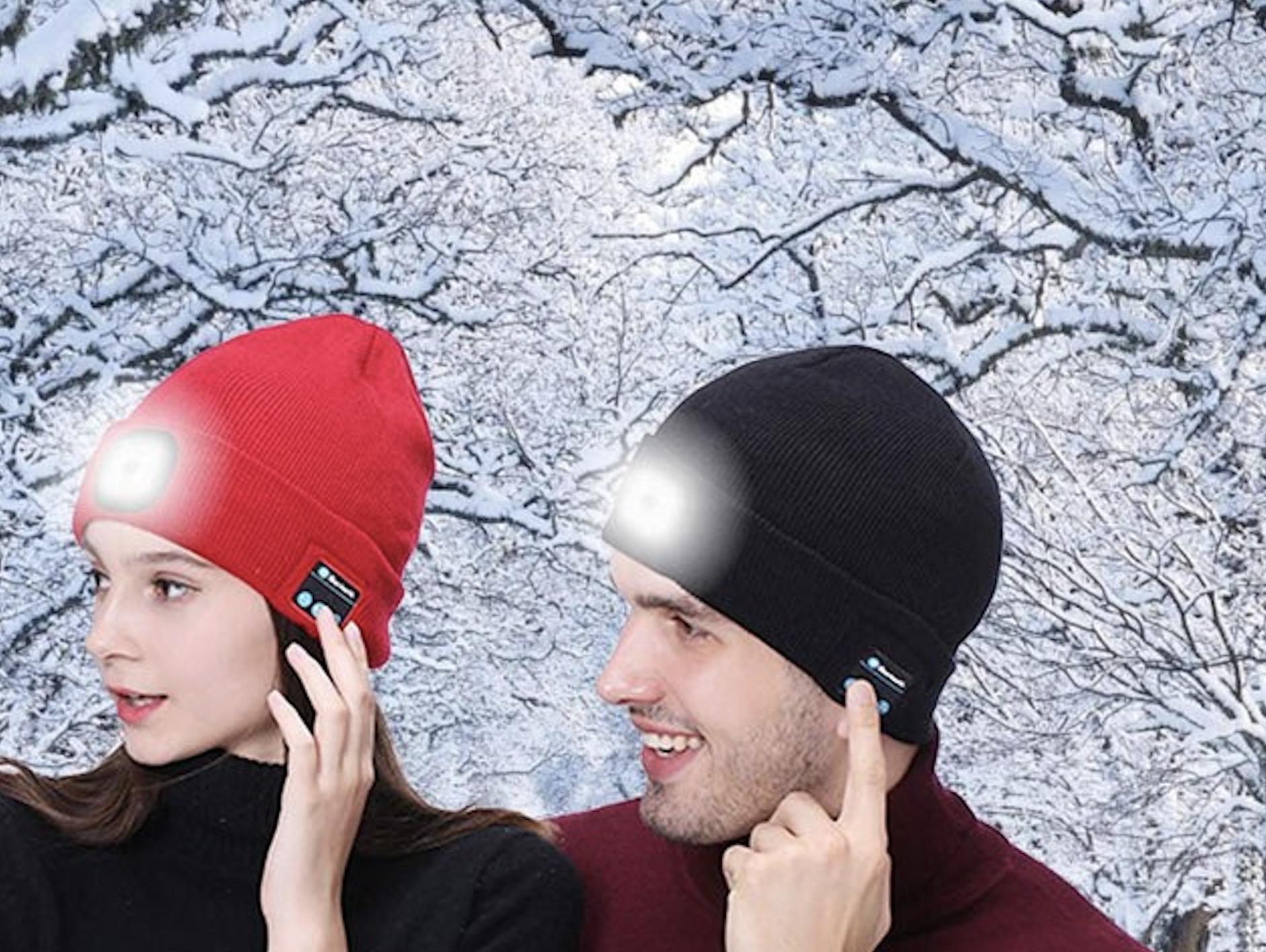 Bonnet En Tricot Bluetooth. Éclairage Extétieur par leds