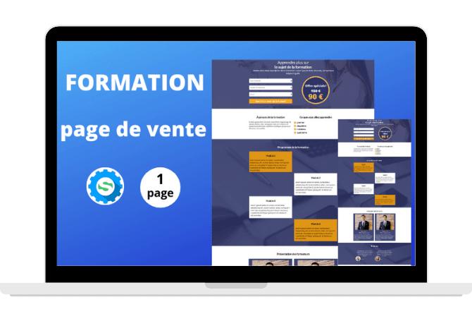 Template Page de vente Formation