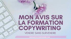 AVIS SUR LA FORMATION COPYWRITING