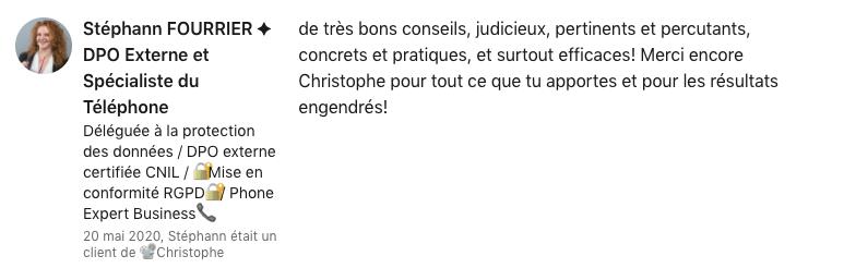 Témoignage Stephann Fourrier