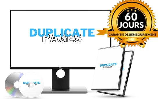 NOUVEAU : Duplicate Pages V2- 5% de conv. sur du COLD - 60% de Commission 1er niveau - Formation VIDEO