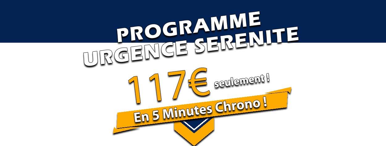 programme urgence sérénité en 5 minutes chrono pour 47€ seulement sur Ma Puissance Mentale