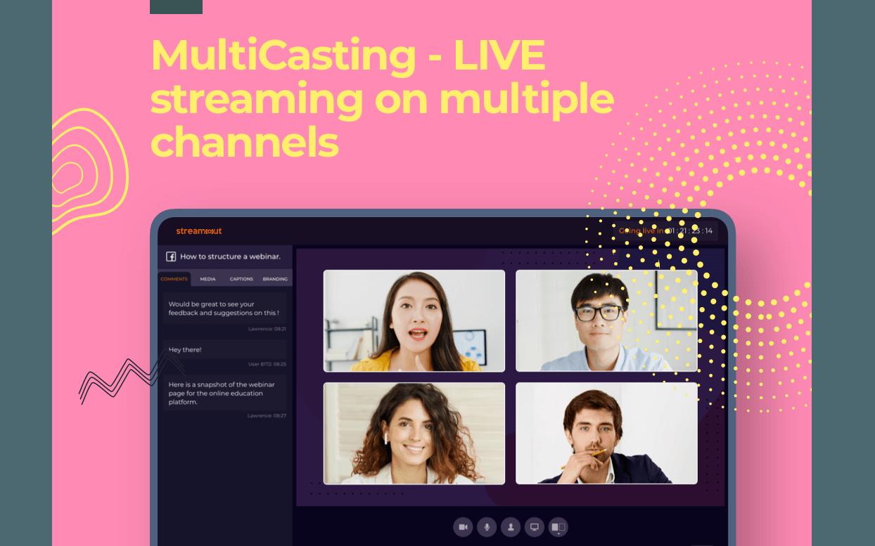 StreamOut: Diffusez en direct vos Lives et Webinaires simultanément sur Facebook, YouTube et Twitch ( pas besoin d'abonnement)