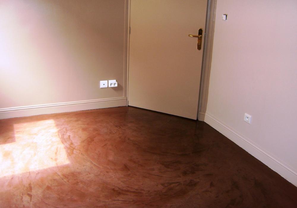 béton ciré au sol