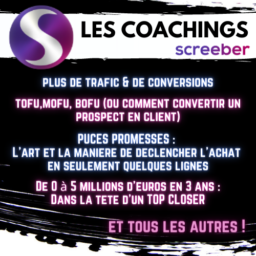 screeber coachings offre speciale