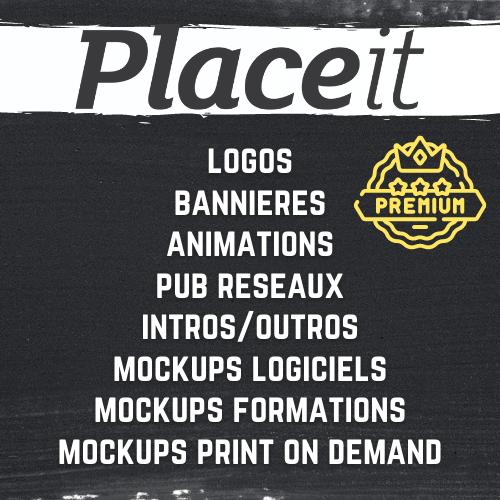 Placeit mockup logo pub premium bénédicte lagardette