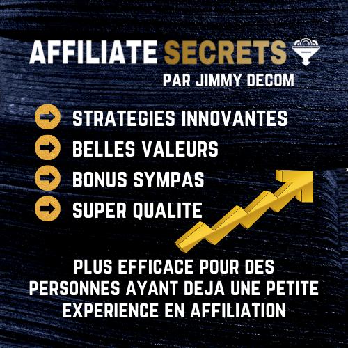 affiliate secrets jimmy decom formation affiliation meilleure